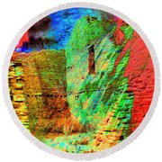 Chaco Culture Abstract Round Beach Towel