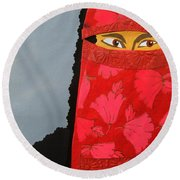 Chador Round Beach Towel