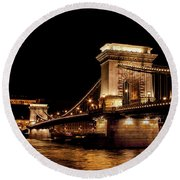 Chain Bridge - Budapest Round Beach Towel