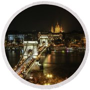 Chain Bridge Round Beach Towel