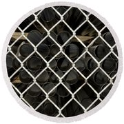 Chain Link Pipe Round Beach Towel