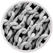 Chain Links Round Beach Towel