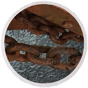 Chains To The Sea Round Beach Towel