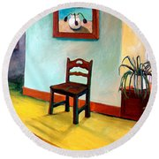 Chair And Pears Interior Round Beach Towel by Michelle Calkins