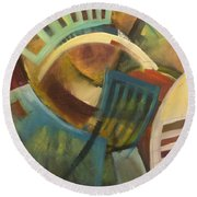 Chairs Around The Table Round Beach Towel