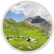 Chalets De Clapeyto # II - French Alps Round Beach Towel