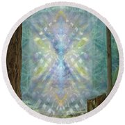 Chalice-tree Spirt In The Forest V2 Round Beach Towel