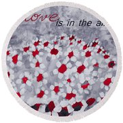 Champs De Marguerites - Love Is In The Air - Red -a23a3 Round Beach Towel