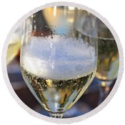 Champagne Celebration Round Beach Towel