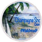 Champagne Snorkel Dominica Shirt Round Beach Towel