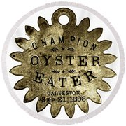 Champion Oyster Eater - To License For Professional Use Visit Granger.com Round Beach Towel