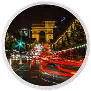 Champs Elysees Round Beach Towel