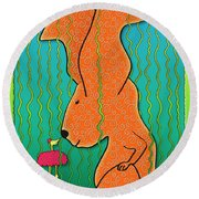 Chance Encounter Round Beach Towel