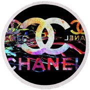 Chanel Black Round Beach Towel