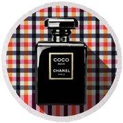 Chanel Coco Noir-pa-kao-ma2 Round Beach Towel