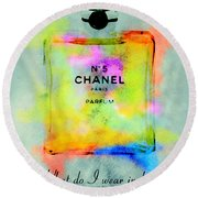 Chanel No.5  Round Beach Towel