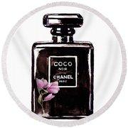 Chanel Noir Magnolia Pink Round Beach Towel