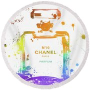Chanel Number Nineteen Round Beach Towel