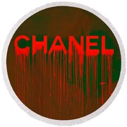Chanel Plakative Fashion - Neon Weave Round Beach Towel