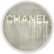Chanel Plakative Fashion - Simple Beige Round Beach Towel