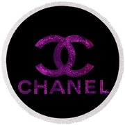 Chanel Print Round Beach Towel