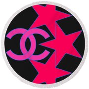 Chanel Stars-9 Round Beach Towel
