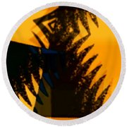 Change - Leaf3 Round Beach Towel