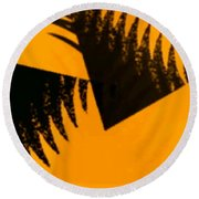 Change - Leaf4 Round Beach Towel