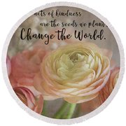 Change The World Round Beach Towel