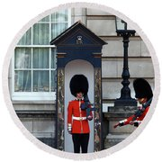 Changing Of The Guard 2 Round Beach Towel