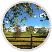 Changing Seasons Round Beach Towel by Bill Cannon