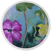 Channel Islands' Island Mallow Round Beach Towel