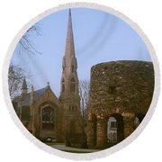 Channing Memorial Church Round Beach Towel