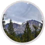 Chaos Crags  Round Beach Towel