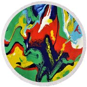 Chaos In Control  Round Beach Towel