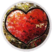 Chaos In Heart Round Beach Towel