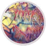 Chaotic Beauty Round Beach Towel