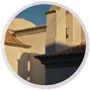 Chapel Architecture In Albufeira Round Beach Towel