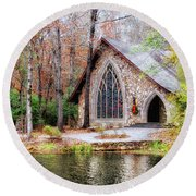 Chapel At Callaway Round Beach Towel