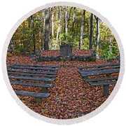 The Chapel In The Park Round Beach Towel