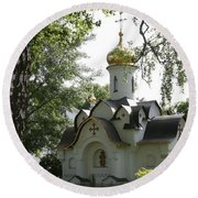 Chapel In The Trees Round Beach Towel