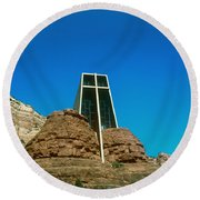 Chapel Of The Holy Cross Sedona Arizona Round Beach Towel
