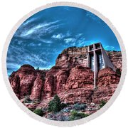 Chapel Of The Rock Round Beach Towel