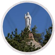 Chapel On A Rock 3 Round Beach Towel