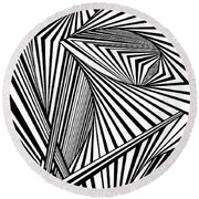 Chapel Reflections Round Beach Towel