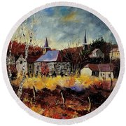 Chapelle D'havenne  Round Beach Towel