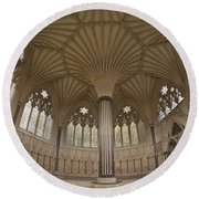 Chapter House, Wells Cathedral, Somerset Uk Round Beach Towel