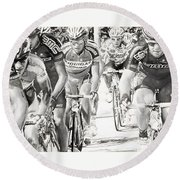 Charcoal Racers Round Beach Towel