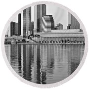 Charcoal Tampa Round Beach Towel