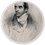 Charles Hatchett, English Chemist Round Beach Towel